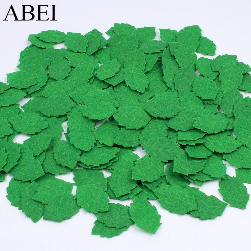 100 unids/lote hojas pequeñas artificiales hojas verdes falsas DIY hecho a mano material de arte Floral decoración de colección de recortes para fiestas de bodas