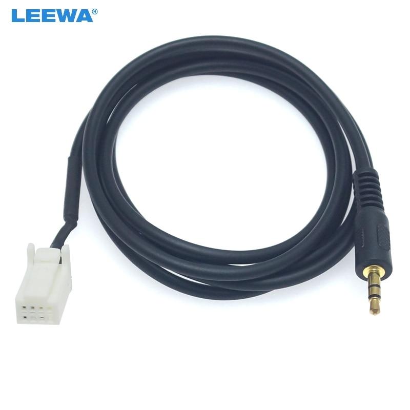 LEEWA 10 piezas de coche 3,5 MM Macho Jack AUX-IN hembra para Cable de Audio para Suzuki SX4 Grand Vitara Swift Jimny extensión adaptador de cable # CA6053