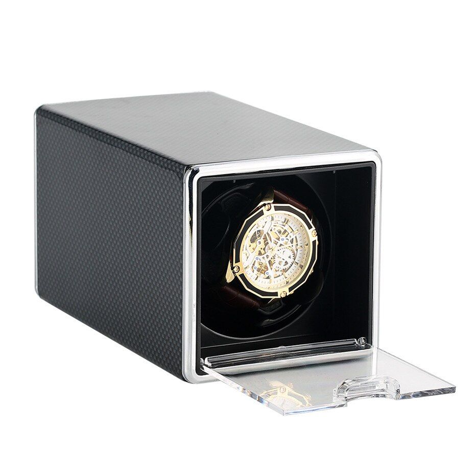 1+0 Mechanical Self-Winding Winding Box Watch Winder Single Holder Motor Box Storage Watch Shaker USB Cable New Arrival 201
