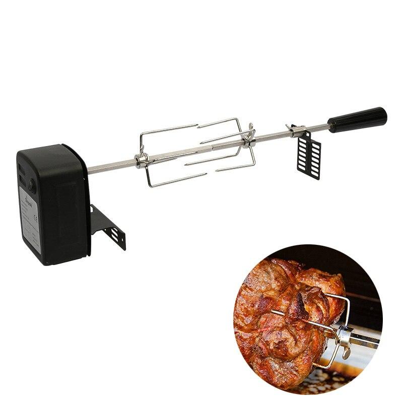 Автоматический гриль для барбекю гриль Электрический мотор для барбекю металлическая наружная веревочка жаровня стержень древесный уголь свинья курица говядина кемпинг инструменты для приготовления пищи