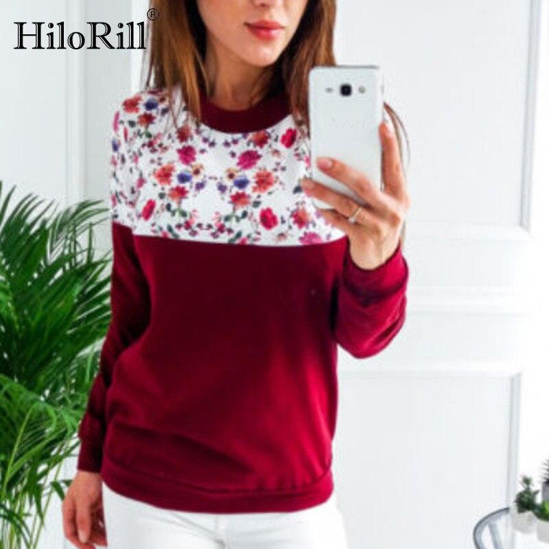 HiloRill Women Jumper 2020 Autumn Print Hoodie Sweatshirt Casual O-neck Long Sleeve Pullover Hoodies Tracksuits Sudaderas Mujer