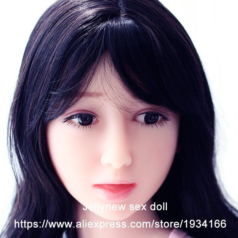 Cabeza de muñeca de silicona real en muñecas sexuales, accesorios de productos sexuales, esqueleto sólido, con pelucas de ojos, sexo oral, maquillaje personalizado, 140 cm