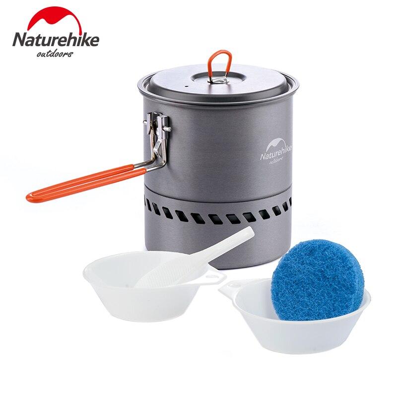 Naturehike Camping 1.5L Heat Exchanger Pot Portable Outdoor Cookware Kettle