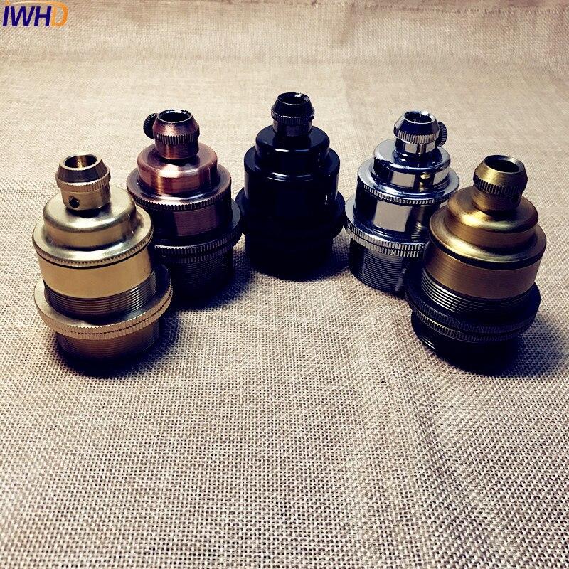 IWHD Retro Vintage E27 Socket Lampholder Douille E27 Lamp Holder For Loft Industrial Pendant Light vintage pulley pendant light lamp vintage industrial retro pendant light e27 edison retro loft industrial lamp