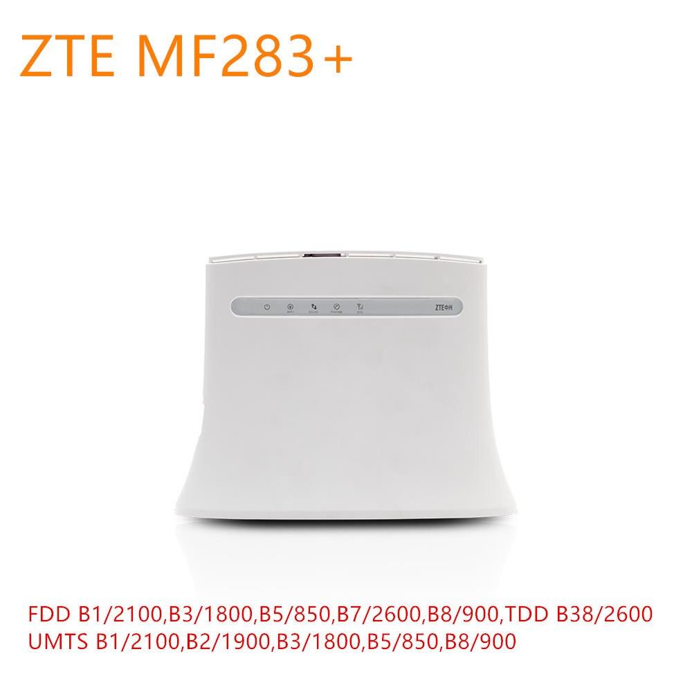 Unlocked ZTE MF283+ plus LTE 4G Wireless Wi-Fi Router Hotspot 4G LTE CPE Router Wireless Gateway with 4 RJ45 USB Port mf283