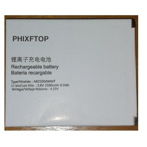 Batería original AB2500AWMT PHIXFTOP para teléfono inteligente philips S318 CTS318 AB2500AWMT para teléfono inteligente XENIUM 2500mAh