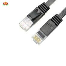 500 pièces/lot 15CM plat UTP CAT6 câble réseau câble dordinateur Gigabit Ethernet cordon de raccordement RJ45 LAN adaptateur cuivre torsadé paires