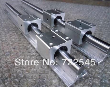 مجموعة قضبان خطية 12 مللي متر ، كتل 2 × sbr12 بطول 1000 مللي متر مع 4x sbr12uu لقطع CNC