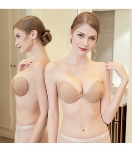 Dropship Sexy Women Lady Push Up Magic Invisible Strapless Silicone Bra
