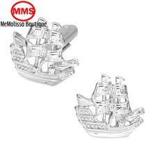 MeMolissa High - quality new pirate sailboat cufflinks cuffs a large number of spot wholesale