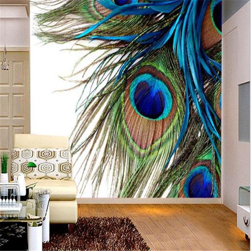 3d стереоскопические обои beibehang, обои с павлиньими перьями, фоновые обои для телевизора, дивана, Настенные обои на заказ