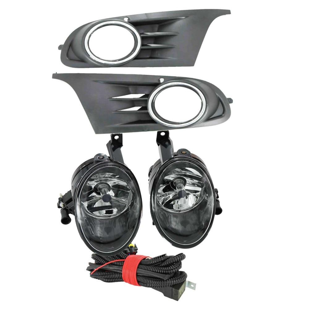 Para vw golf 6 mk6 2009 2010 2011 2012 2013 golf 6 cabriolet 2012-2016 luz de nevoeiro da frente luz de nevoeiro capa arnês montagem