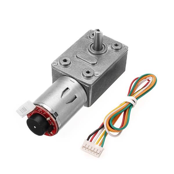 GM4632-370 24 V DC 80 RPM alto par Turbo codificador Motor gusano engranaje Motor reductor DC Motor