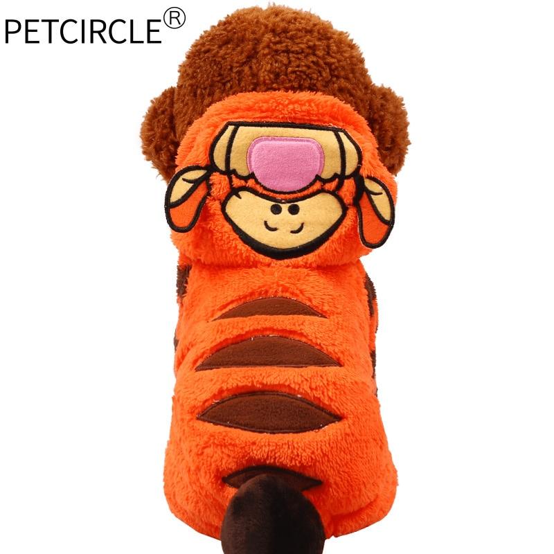 Petcircle/Новинка; Лидер продаж; Одежда для собак; зимние пальто для собак с тигром; теплые толстовки для чихуахуа; костюмы для маленьких и больших собак