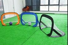 طوي الأطفال لكرة القدم الهدف المحمولة شاطئ كرة القدم شبكة المرمى تتحرك هدف صغير الإطار في الهواء الطلق هدف الأطفال