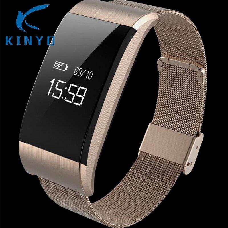 2018 nueva pulsera inteligente con correa de monitoreo de presión arterial reloj despertador cámara remota peso ligero pulsera inteligente pk xioami band 3