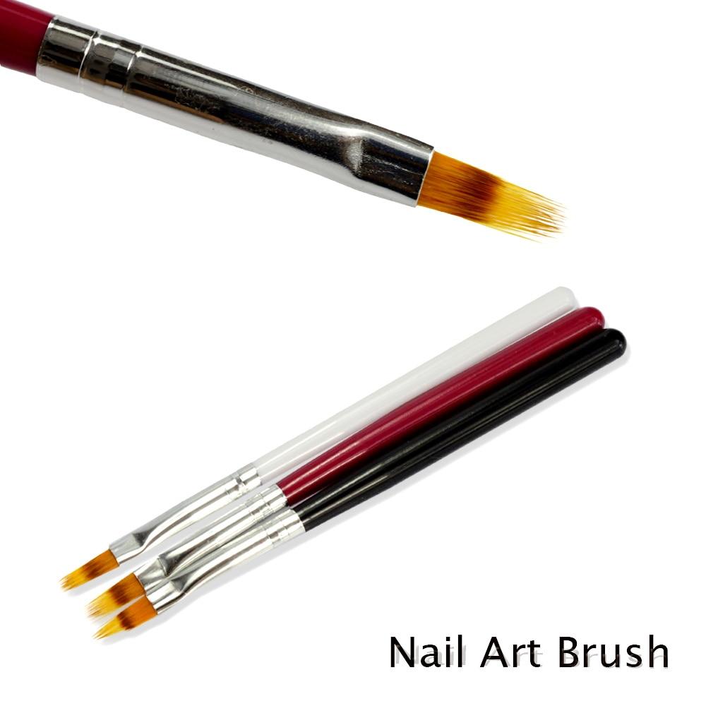 1 шт., кисть для дизайна ногтей с эффектом Ombre, градиентная ручка для рисования ногтей, УФ-гель для рисования, ручка из нейлона, черные и белые волосы, инструмент для маникюра TR285