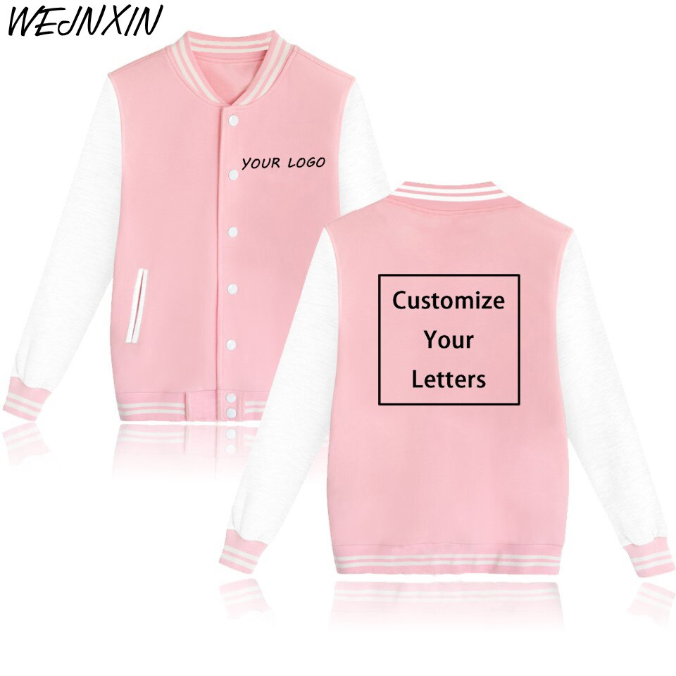 Chaqueta WEJNXIN con logotipo personalizado para otoño e invierno, abrigos con imagen de texto de logotipo de foto, sudaderas con capucha estampadas de dibujos animados de Anime, sudadera de lana, chándal