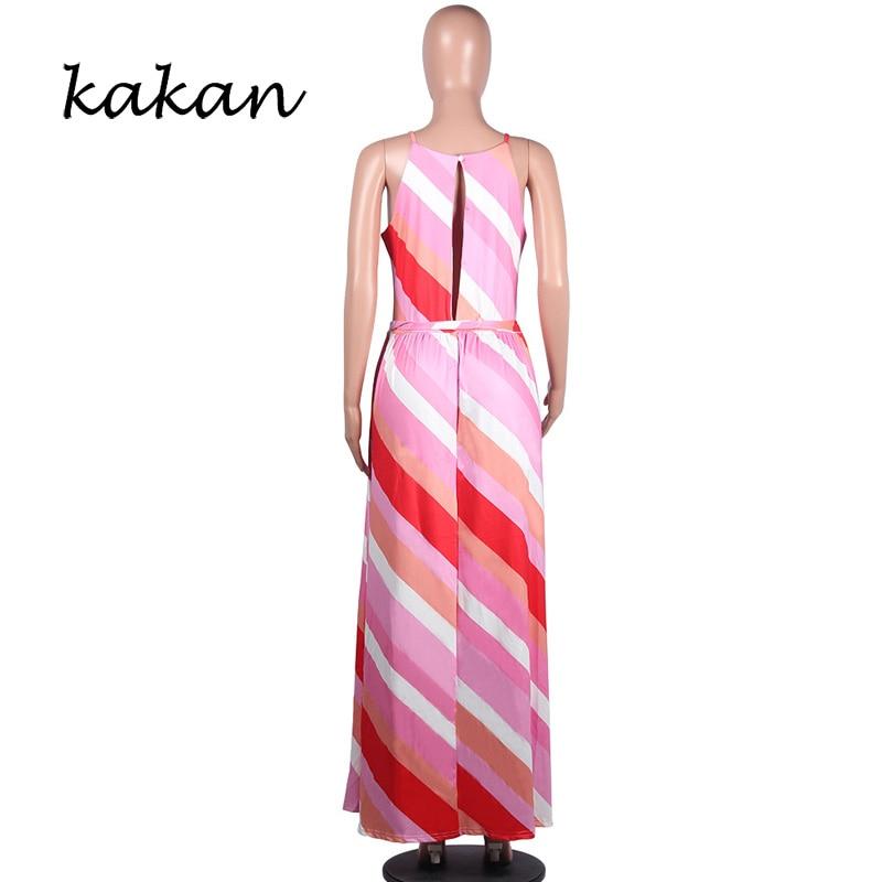 Kakan casual multicolor dress 2019 summer new best women's print long dress