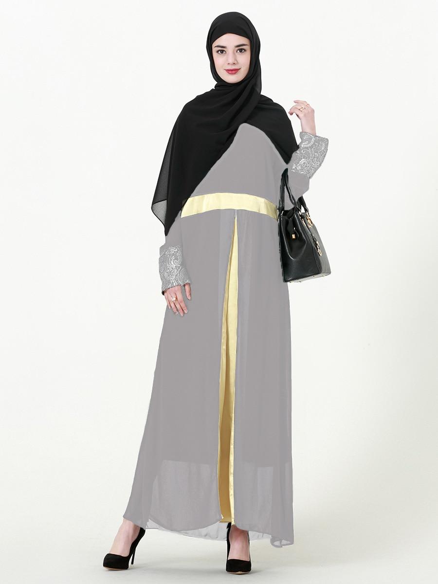 2019 mujeres Abaya Kaftan musulmán vestido Jilbab caftán Ramadan Turquía Dubai Abayas Elbise Bangladesh Chiffon vestido turco Islámico