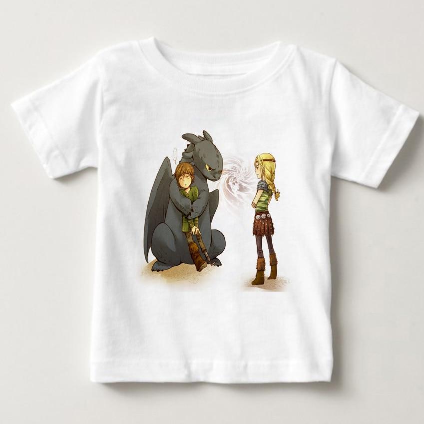 T-Shirts children Heather Blusa Print Toothless on Sunset T Shirt boy and girl summer T-shirt MJ