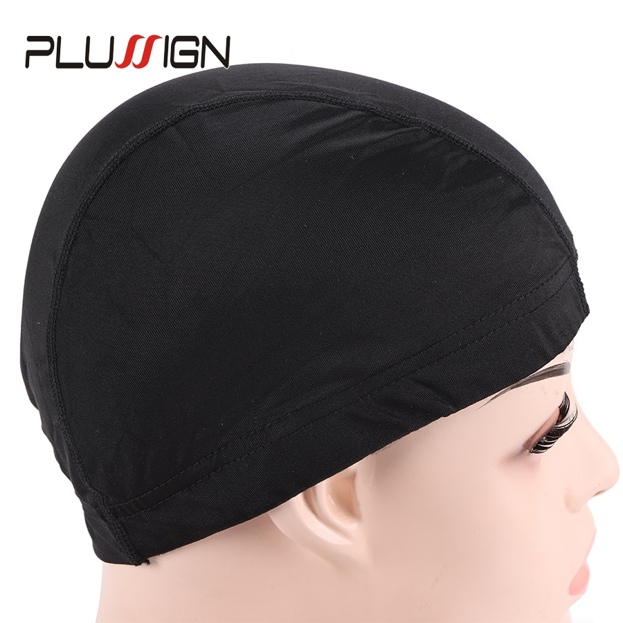 5Pcs Top Aliexpress Selling Dome Caps For Wig Making Weaving Cap Black Silk Wig Nets Stocking Caps Invisible Mesh Cap Free Size