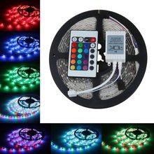 Светодиодная лента, 3528, 2835, RGB, 5 м, 300 SMD, светодиодная полоса, 24 клавиши, SMD ИК пульт дистанционного управления, или белый, синий, красный, зелены...