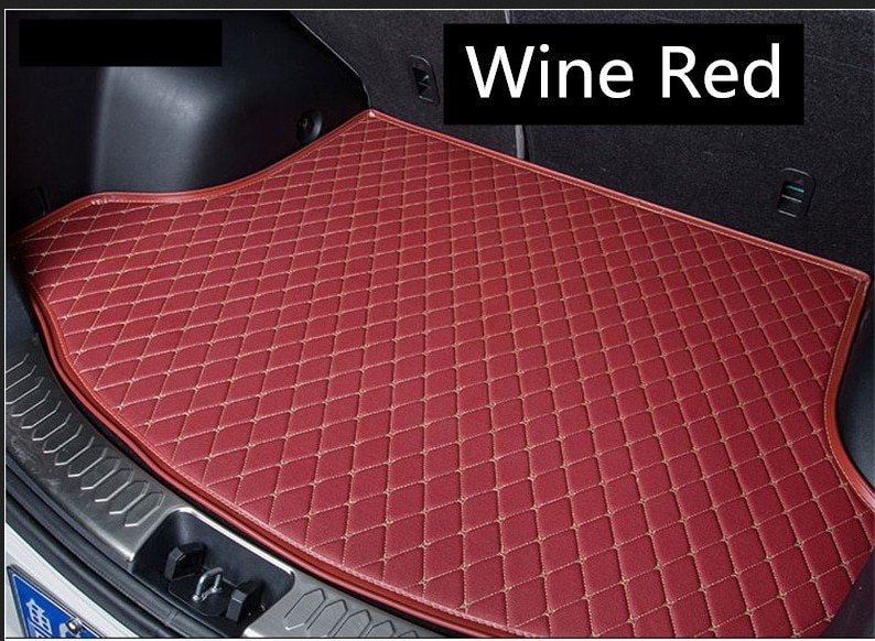Auto Cargo Liner Trunk Mats For BMW 5 Series G30 G38 528 530 540 2018 Car Boot Mat High Quality Embroidery Leather Free shipping