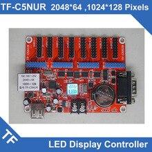 Tarjeta de Control de pantalla LED Longgreat TF, puerto Serial USB, asíncrono, Color único y Dual, TF-C6NUR/TF-C5NUR
