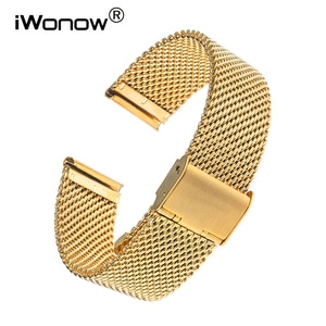 20mm Milanese Stainless Steel Watchband for Huawei Watch 2 (Sport) Gear S2 Classic R732 R735 Bradely Timepiece Wrist Band Strap