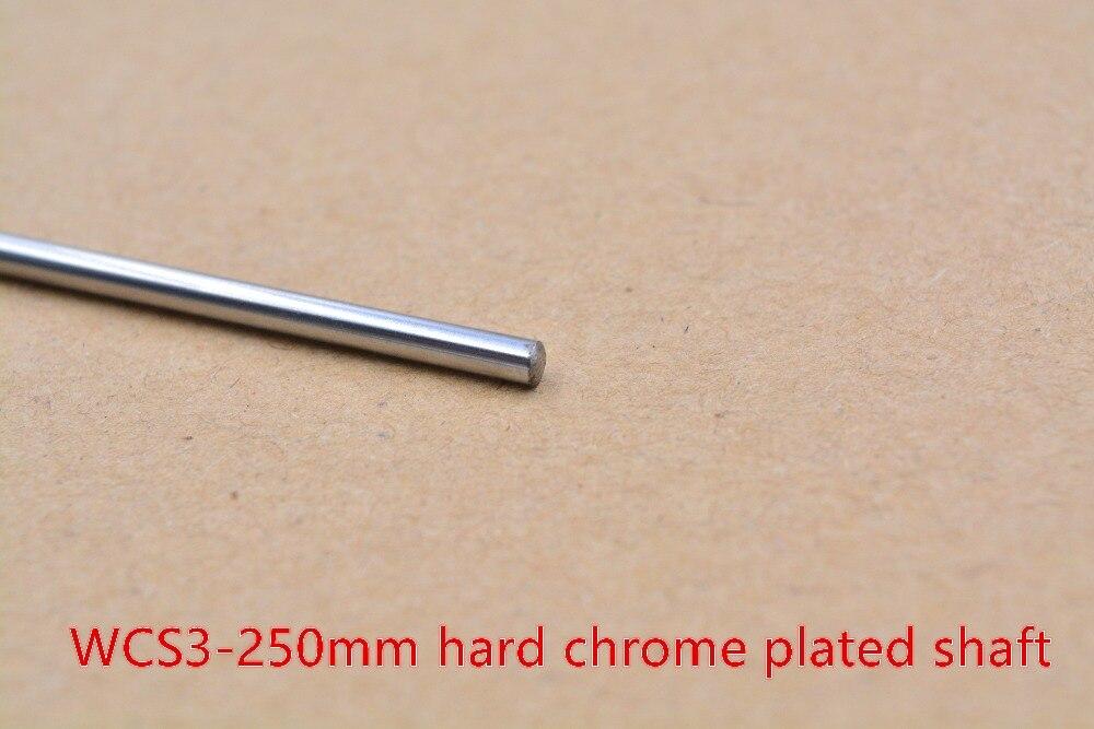 Eje de varilla de impresora 3D WCS 3mm Longitud del eje lineal 250mm cromo plateado carril de guía lineal eje de varilla redonda 1 Uds
