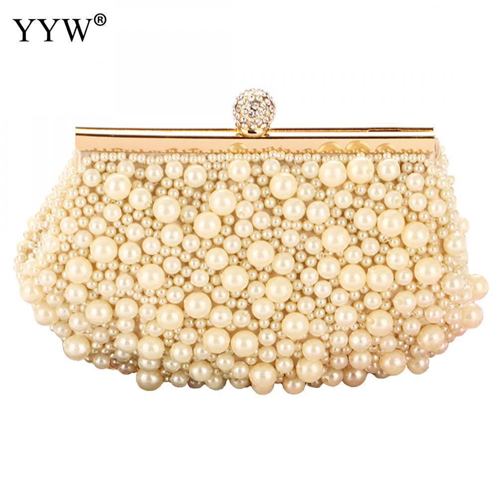 YYW perla Mini bolsos señora nuevo Bolso de hombro embrague blanco novias...