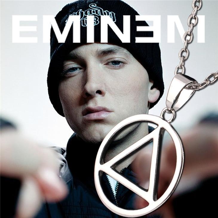 Eminem collier mince ombré Hip Hop rappeur Rock populaire Logo symbole argent couleur pendentif mode musique bijoux hommes Fans en gros