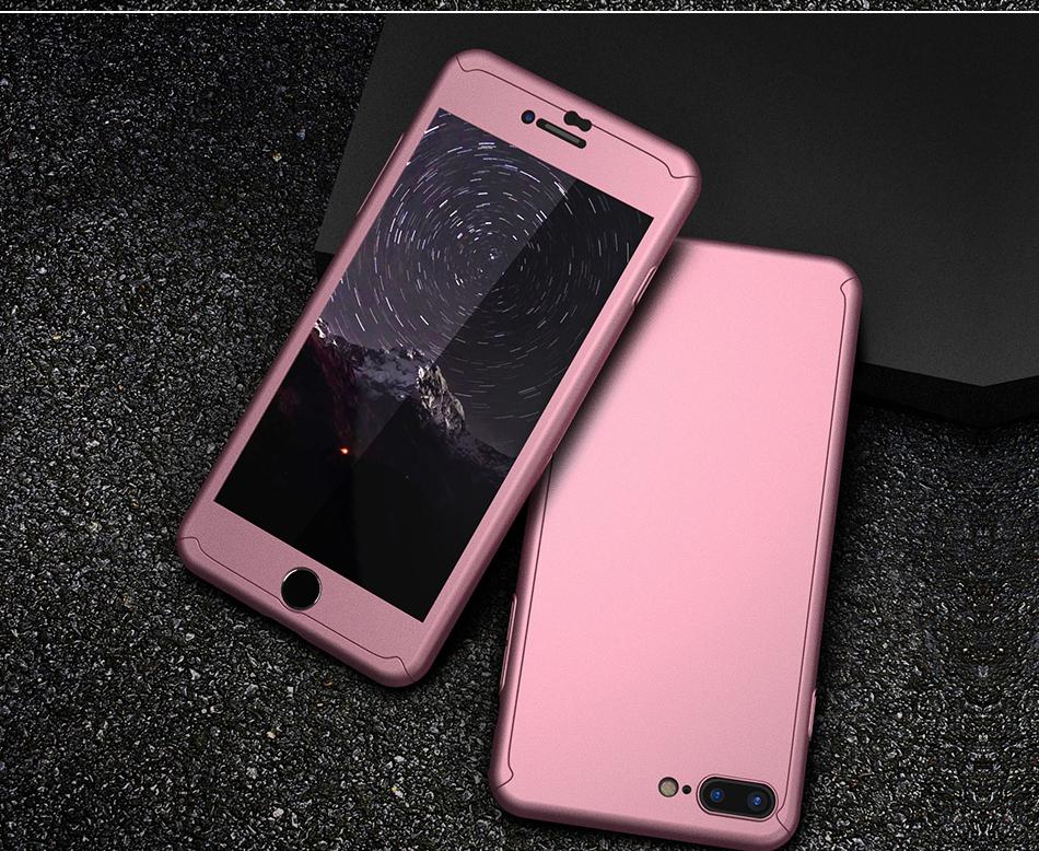 Floveme 360 pełna ochronne twarde etui na telefony iphone 6 6s plus 7 7 plus coque luksusowe odporny na wstrząsy case + ekran szkła Protector 13