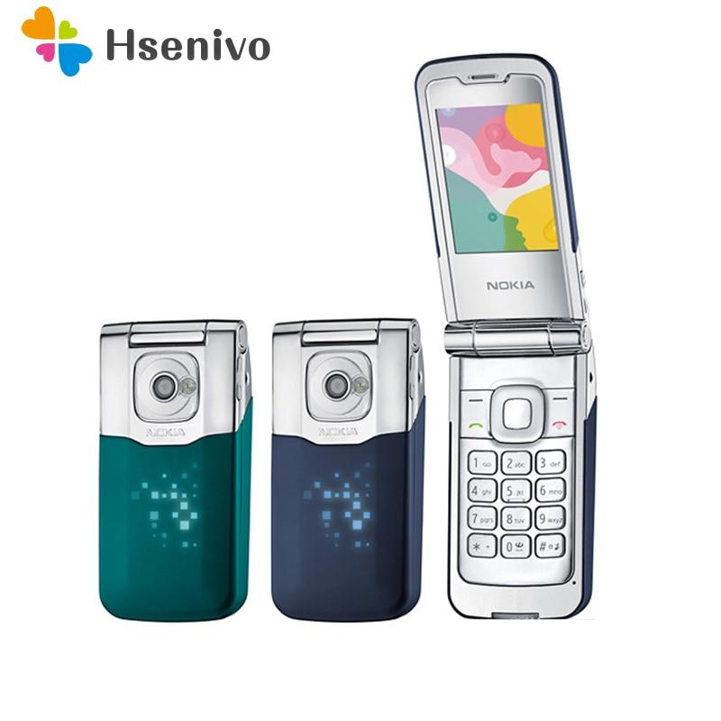 Nokia 7510 Refurbished-Original 7510A Supernova Mobile Phone Refurbished Flip Bluetooth Mp3 Unlocked