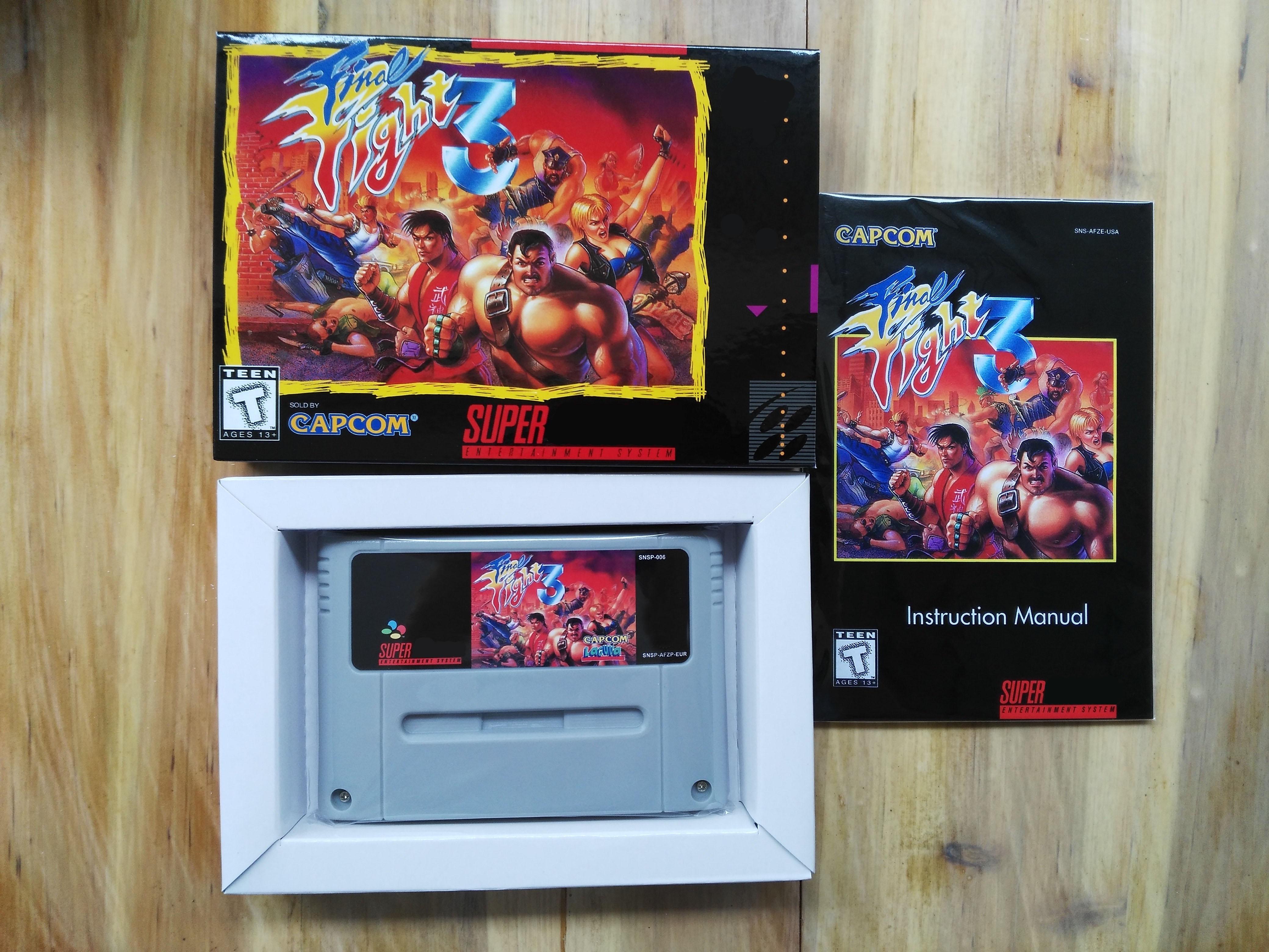 16Bit Games ** Final Fight 3 ( PAL Version!! Box+Manual+Cartridge!! )