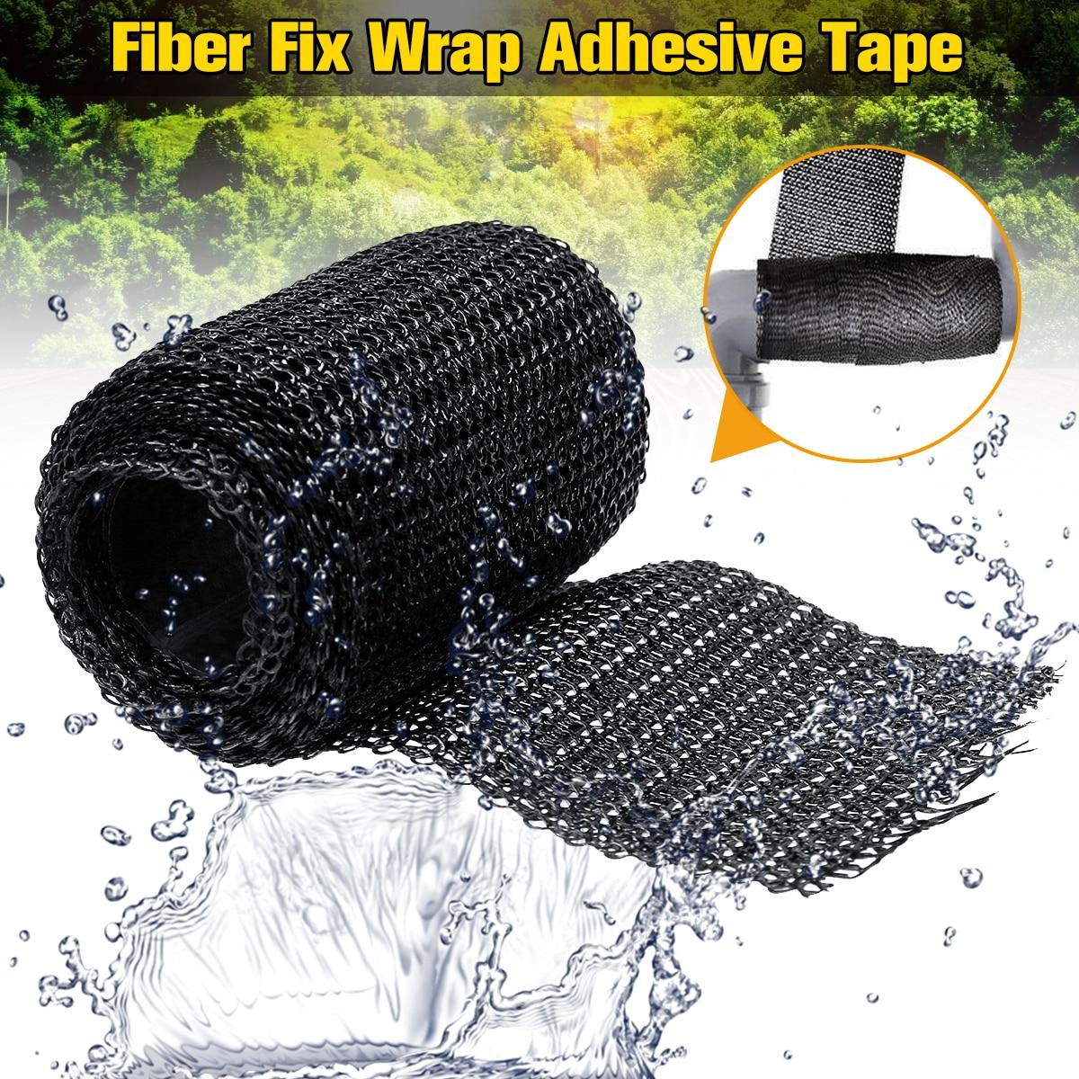 Selladores de cinta adhesiva para envolver fibra DIY para el hogar, herramientas de reparación del hogar adhesivas fuertes negras para reparar el pie de la Mesa de la tubería