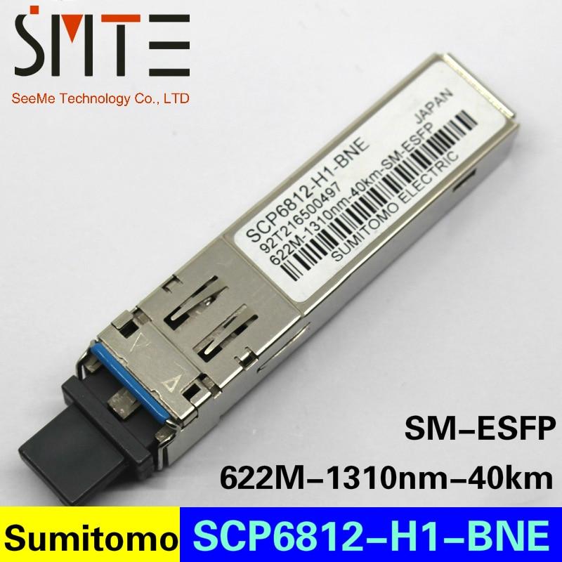 سوميتومو SCP6812-H1-BNE 622M-1310nm-40km-SM-ESFP الألياف البصرية جهاز الإرسال والاستقبال