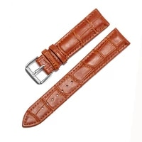 shsby 6 colors leather watchband cowhide bamboo waterproof watch strap stainless steel buckle belt buckle 12 1416 1820mm