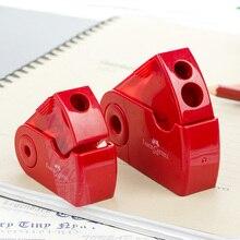 FABER CASTELL Push Pull Double taille-crayon simple trou Double trou multifonctionnel école et bureau papeterie