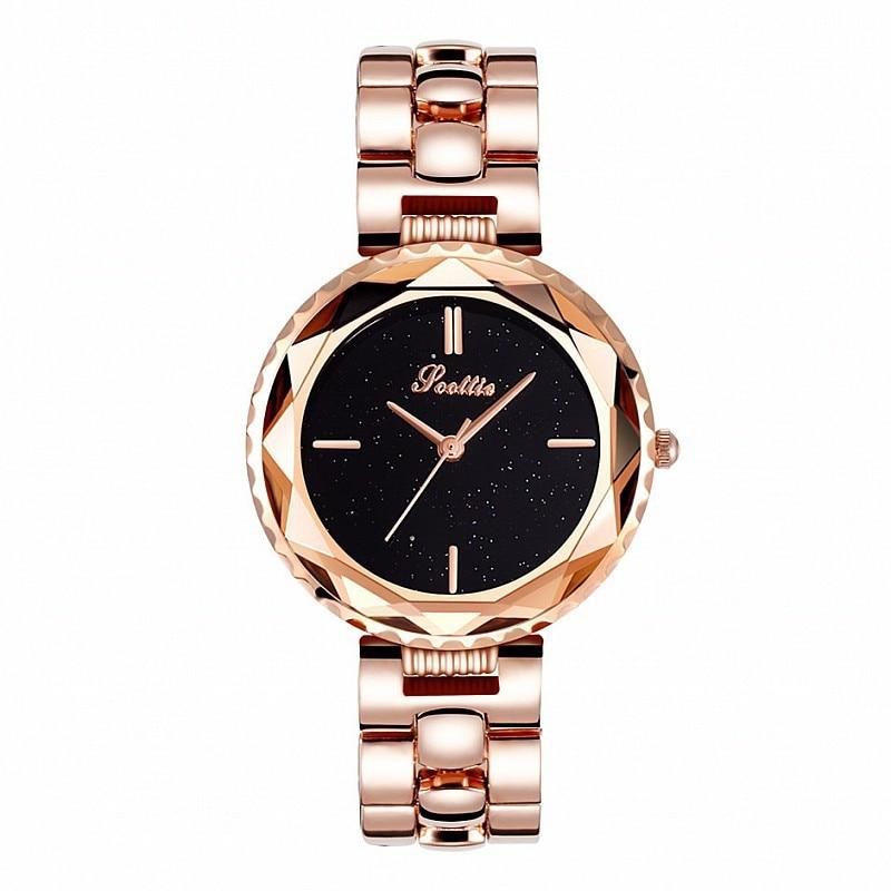 Top Luxury Brand Lady Crystal Watch Woman Fashion Rhinestone Dress Watch Gold Quartz Watches Women Stainless Steel Watch Clock enlarge