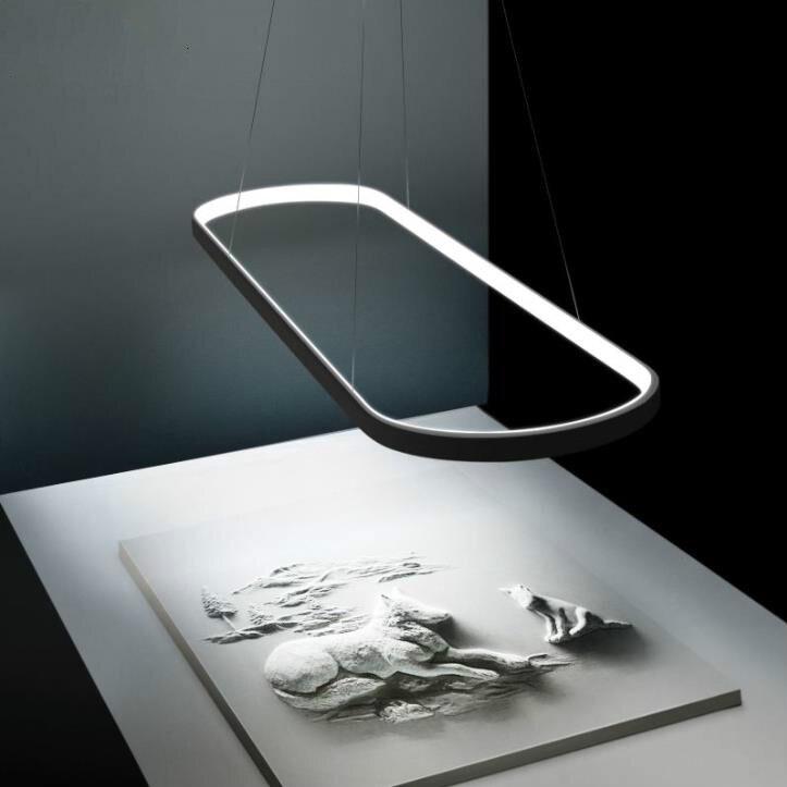 Lámpara colgante LED moderna, lámpara colgante en línea, accesorios para comedor, sala,...