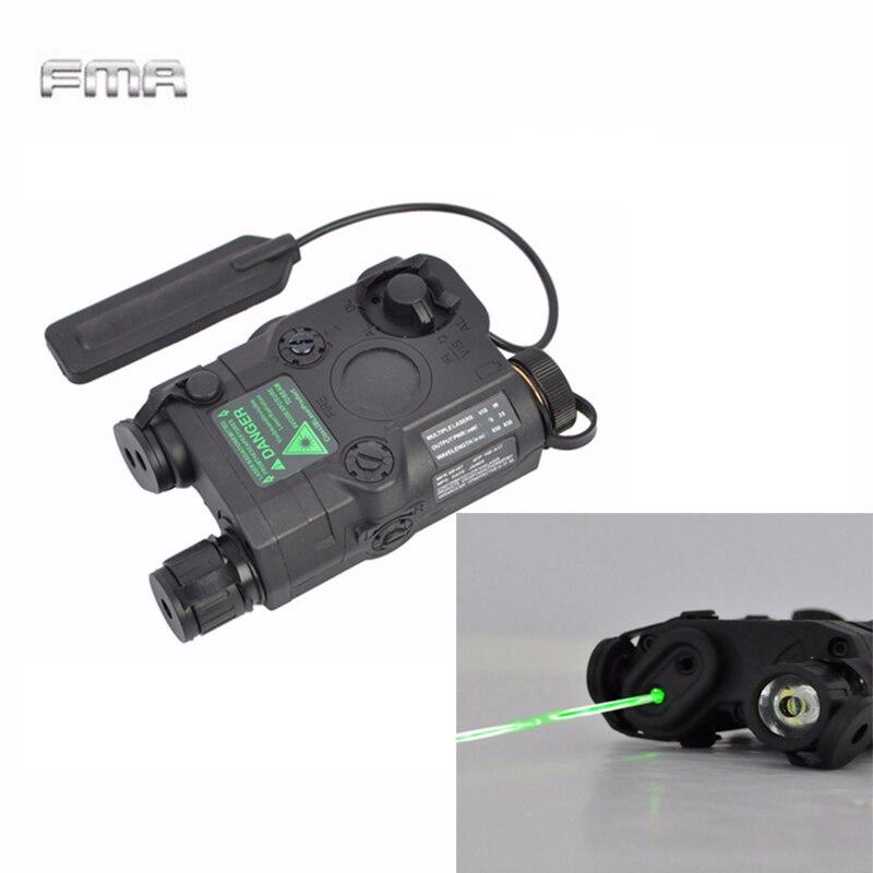 FMA Тактический AN/PEQ 15 зеленая точка лазерный с Белый светодиодный фонарик Фонарь