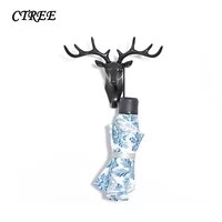 ctree 1pc deer head animal self adhesive clothes display stands hook hanger cap bedroom show decor wall bag touches hooks c418