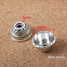 50pcs  vintage   End Beads Caps  charm   Antique silver  Pendant  DIY European Style Jewelry Making  X203