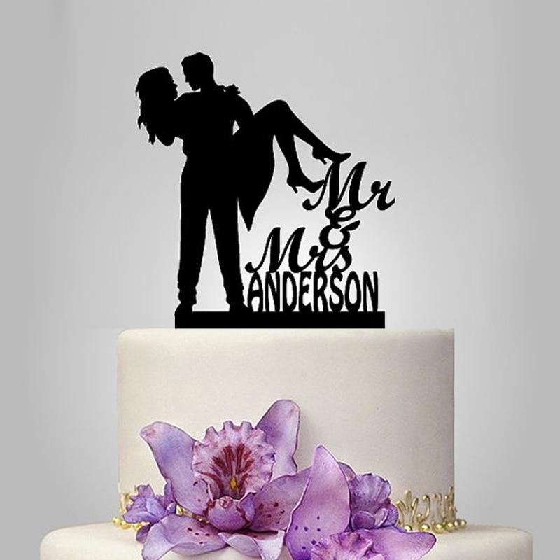 2017 Real Rushed Personalized Acrylic Princess Hug Wedding Cake Topper/wedding Stand/wedding Decoration /Custom Topper