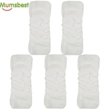 Mumsbest]-couches en coton et bambou   Inserts 5 couches pour tissu de bébé, doublures à langer réutilisables, couches en tissu, napperons tapis 5 pièces