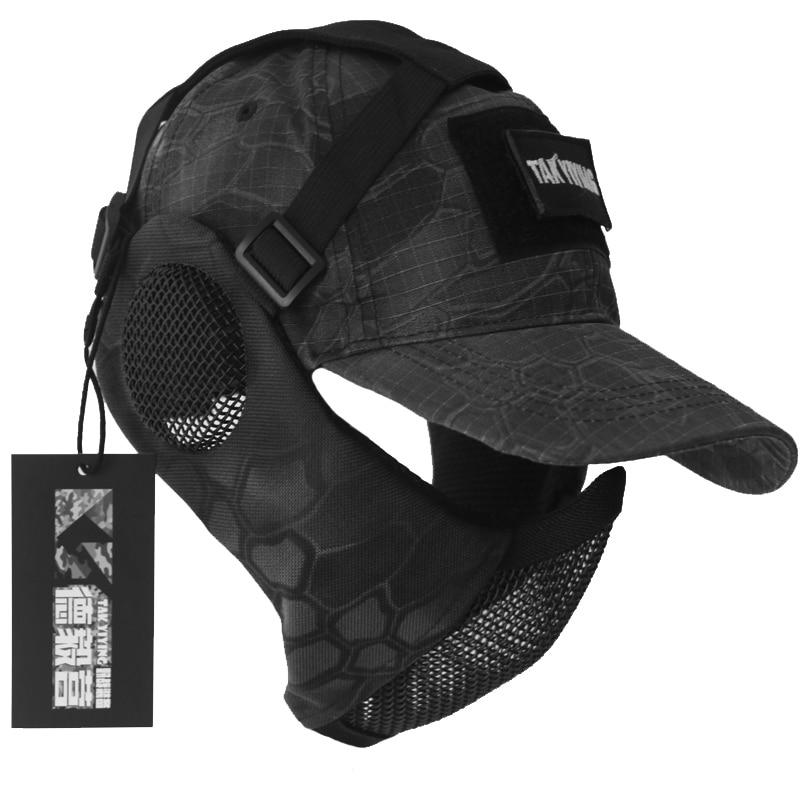 TAK YIYING камуфляжная тактическая Складная Сетчатая Маска с защитой ушей с крышкой для охоты
