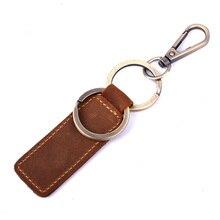 Klsyanyo Vintage porte-clé en cuir véritable femmes porte-clé couvre porte-clé pour Automobile clés gouvernante clés organisateur