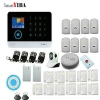 SmartYIBA     systeme dalarme de securite domestique sans fil  wi-fi  anti-cambriolage  controle via les applications IOS Android  avec bouton durgence  detection de fumee